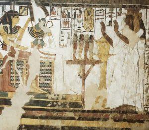 Imagen 15, Nefertari ante Osiris, Hathor y Anubis (no aparece) en muro norte