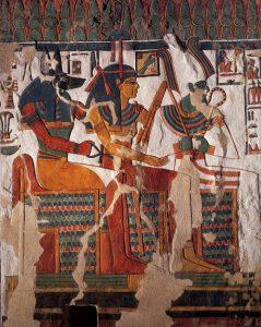 Imagen 16. Muro norte, Osiris, Hathor y Anubis