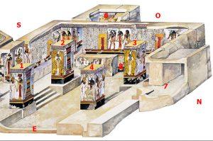 Imagen 2, corte de la cámara del sarcófago, parte izquierda
