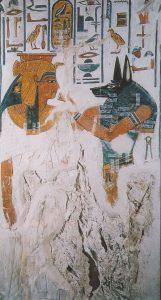 Imagen 12, Anubis da la vida a Nefertari. Pilar 4, cara este