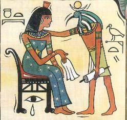 La diosa Nut y el dios Thot