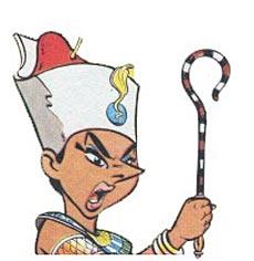 Cleopatra en los dibujos animados de Asterix