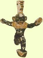 Bes, considerado como un dios amable y feliz que velaba por el hogar y la familia egipcia